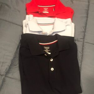 French toast long sleeve button up polo's